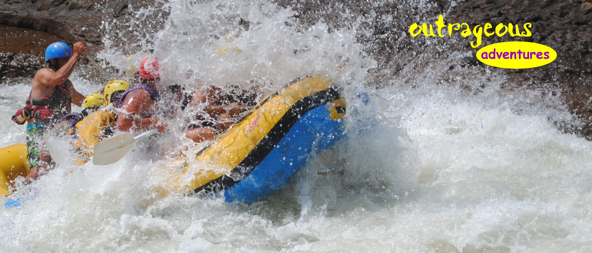 white water rafting action and adventure in South Africa.